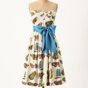 Anthro Maeve Lepidoptera Butterfly Dress